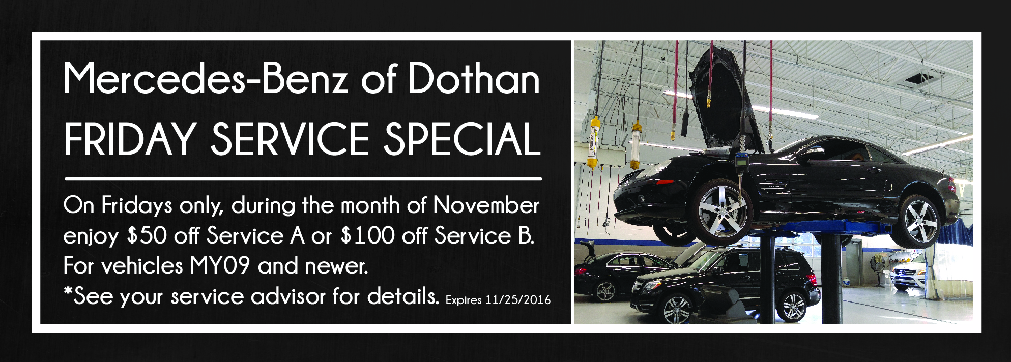 New and used car ads dothan al mercedes benz of dothan for Service coupons for mercedes benz